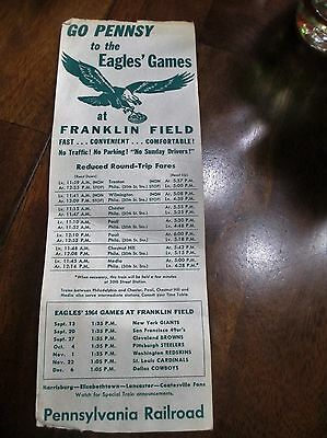 Go Pennsy to the Eagles' Games at Franklin Field  1964   Pennsylvania RR