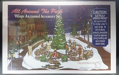 **NEW** Dept 56 All Around The Park Village Animated Accessory Set (5247-7)