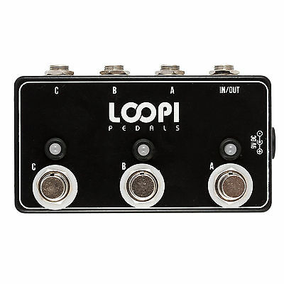 ABC Pedal Guitar Line Switcher - True Bypass - Loopi Pedals
