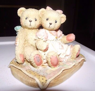 Cherished Teddies Nathaniel & Nellie It's Twice As Nice With You 1991 #950513