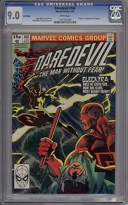 Daredevil #168 - CGC Graded 9.0 - 1st Elektra