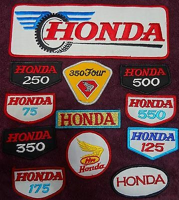 12 different Vintage Honda Motorcycle Patches 70's NOS