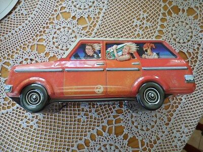 Collectable car biscuit, sweet,  tin.