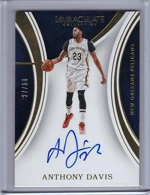 2015-16 Panini Immaculate Collection Autograph #S-AD Anthony Davis 27/60