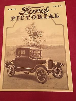 Vintage Fall 1925 Ford Pictorial Photo Magazine - Model T Ford