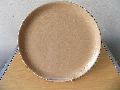 "Vintage Bauer Brusche Contempo Pottery 13"" Platter Plate Speckled Tan"