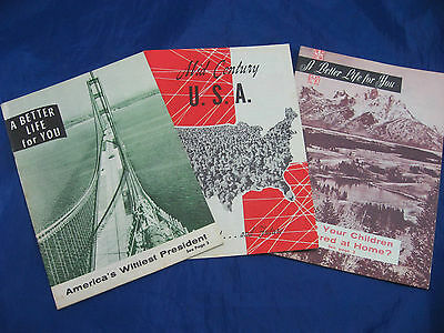 Vintage Pamphlets/Paper/Articles A Better Life For You/Mid-Century USA Lot 50's