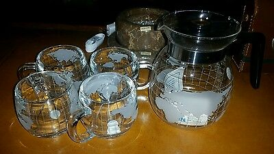 1970s nestle world map globe coffee set