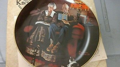 "1988 Plate LE "" Evening's Ease "" by Norman Rockwell"