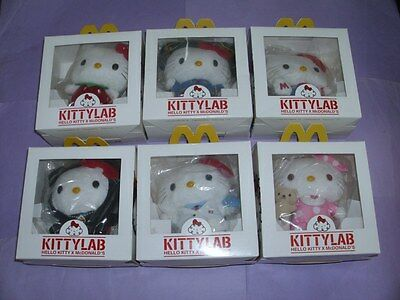 Mcdonald HELLO KITTY LAB complete plush set in boxes