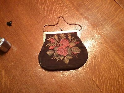 Antique Floral Dance Purse 8 in. wd X 8 in. high