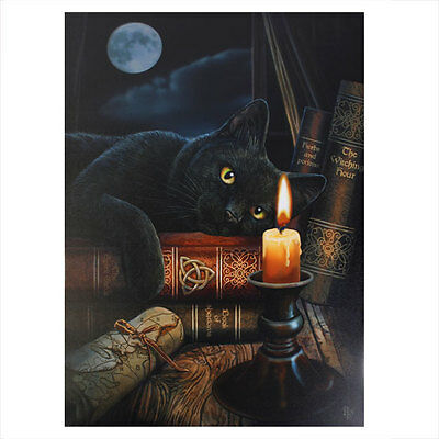 Lisa Parker  Gothic Wicca Black Cat Witching Hour 70cm x 50cm Canvas Print