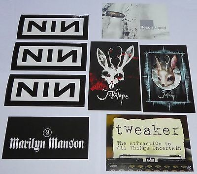 Nine Inch Nails PROMO Stickers & Related Postcards NIN - Marilyn Manson Jakalope