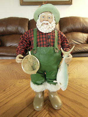 2001 Clothtique Santa Wading for Supper by Possible Dreams (Fishing)
