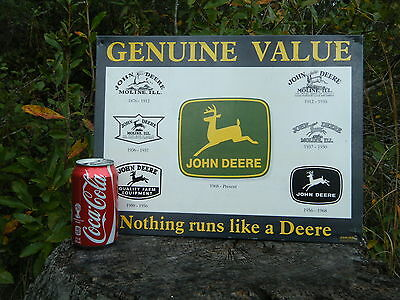 John Deere Metal Sign 1999 Tractor Farm Agriculture Dairy Feed Seed