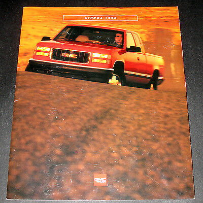 -- Brochure - 1996 GMC SIERRA Truck - Factory Promotional Pamplet