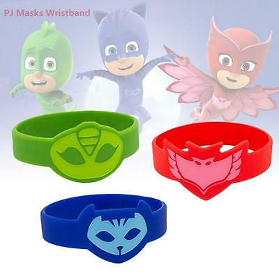 Kids Gift PJ Masks Wristband Cosplay Catboy Gekko Owlette Playhouse Wrist Band