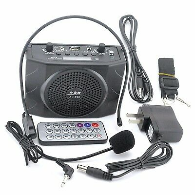 Portable Waistband PA Amplifier Voice Booster Loud Speaker Mic Guide Tourist
