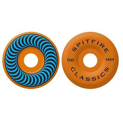 Spitfire - Classic Neon Orange/Blue 56MM 99A Skateboard Wheels