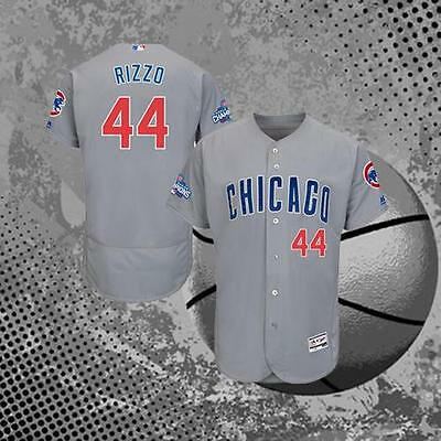 Chicago Cubs Anthony Rizzo World Series #44 Baseball Jersey Grey