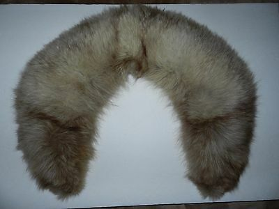 fUR COLLAR BROWNISH VINTAGE SEWING COSTUMING COSPLAY STAGE ACCESSORY NO CLASP