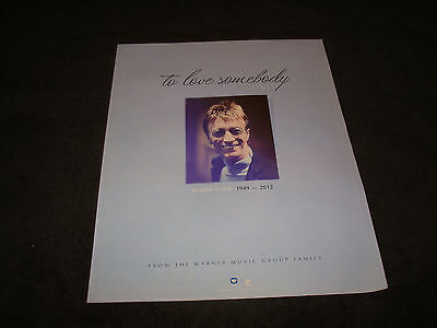 ROBIN GIBB 1949-2012 tribute ad of the Bee Gees, 'To Love Somebody', Barry Gibb