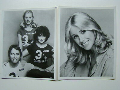 Three's Company TV Show 8 x 10 Photographs John Ritter & Suzanne Somers 1970's