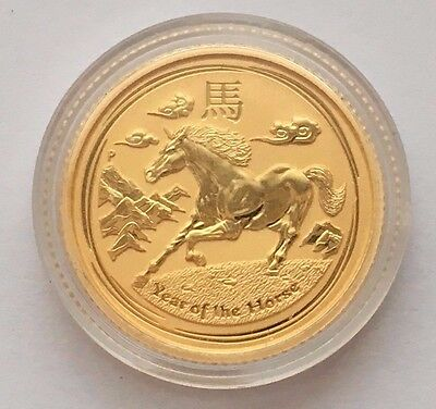2014 Proof Australian Gold $15 Year Of Horse Coin Free Shipping