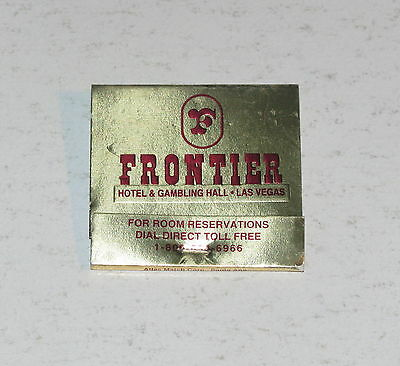 Vintage Frontier Las Vegas Hotel & Casino Matchbook Missing One Match