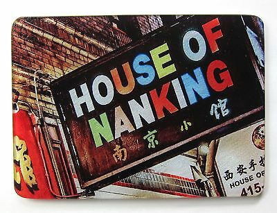 HOUSE of NANKING Glass TRIVET San Francisco CHINATOWN Chinese RESTAURANT Sign AD