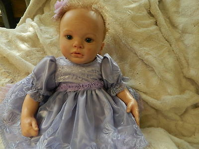 """Lavender Lace And Satin. Will Fit  18"""" Reborn Baby Doll"""
