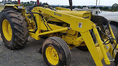 Ford 420 Tractor Front End Loader and slasher