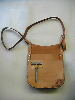 Vintage Retro Leather Money London Bus Conductors  Ticket Bag & KEY FREE P&P