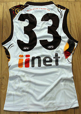 2016 Cyril Rioli Player Issue Hawthorn Indigenous Football Jumper Guernsey