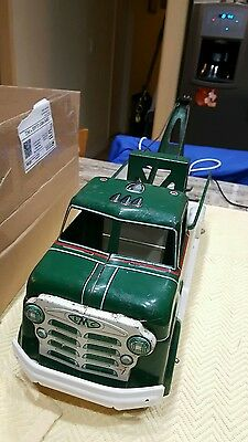 steel tow truck cities service towing  marx vintage