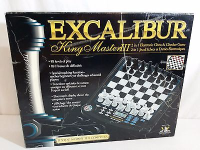 Excalibur King Master III - 2 in 1 Electronic Chess and Checker Game