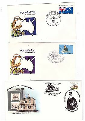 Australia 1978/81 Group of Special Covers         ( 5 covers )