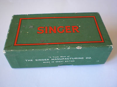 Vintage Singer Box Of Sewing Machine Parts & Lubricant Box