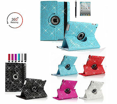 New 360 Rotating Flower Magnet Leather Stand Flip Case Cover for Apple iPad Air