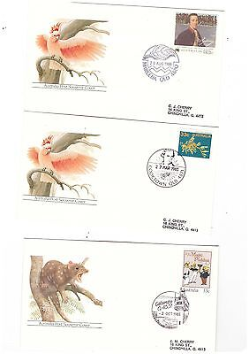 Australia 1985/86 Group of Covers  ( 3 covers )               lot no 3