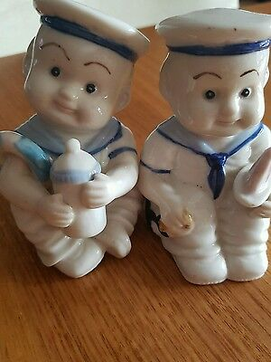 vintage sailor salt and pepper