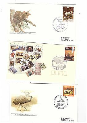 Australia 1985/93 Group of Covers  ( 3 covers )               lot no 7
