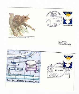 Australia 1986 Group of Covers  ( 2 covers )               lot no 10