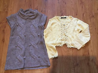 Bundle Kids Clothes 4-5 Years Dress And Cardigan