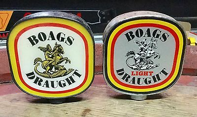 Boags Draught & Light Draught. Beer Tap Tops x 2