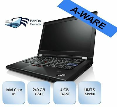 Lenovo ThinkPad T420s Intel i5 2,5Ghz 4Gb 240GB SSD WebCam UMTS Win7Pro x64 T430