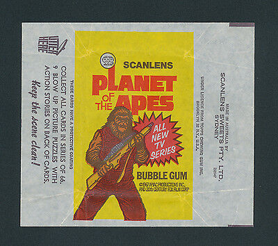 Planet of the Apes Scanlens Card Wrapper 1975