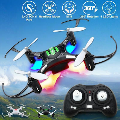 JJRC H8 Mini 2.4G 4CH 6-axis-Gyro Headless RC Quadcopter Drone RTF 4 LED Lights