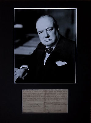 AUTHENTIC original 1911 WINSTON CHURCHILL signed AUTOGRAPH Home Office document