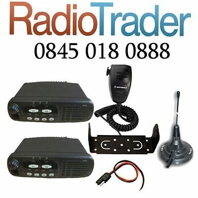 2 x MOTOROLA GM340 VHF MOBILE TWO WAY RADIO COMES WITH MAGMOUNT ANTENNA